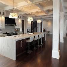 12 foot kitchen island waterfall kitchen island with robert bling chandeliers
