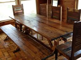 dining room great rustic dining room table bench fantastic