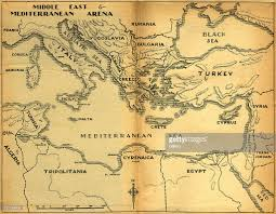 Old Map Middle East Mediterranean Old Map Stock Photo Getty Images