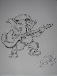 ganesha u0027rapper u0027 sketch by saintvinod on deviantart