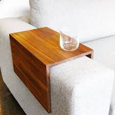 couch arm coffee table custom arm drink rest laptop table for straight arm sofa home
