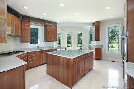 Modern Kitchen Cabinets Colors Modern Kitchen Ideas With Wood Kitchen Cabinets And Brown Floor