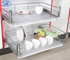 Aguangzhou Softclosing Tier Dish Racks Kitchen Cabinet - Kitchen cabinet plate organizers