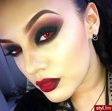 makeupdramatics vampire style pinterest red contacts