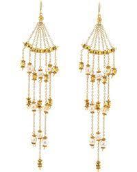 Nakamol Czech Crystal Beaded Chandelier Lyst Shop Women U0027s Nakamol Earrings From 28 Lyst Page 5