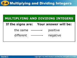 multiplying and dividing integers ppt video online download