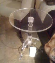 clear acrylic coffee table clear acrylic side table round small tables for sofa high end home