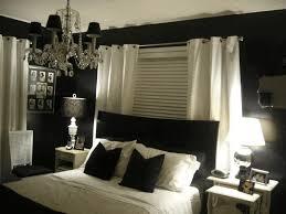 Plain White Curtains Luxurious Chandelier Frameless Hanging Mirror Jet Black