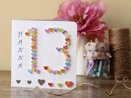 handmade 3d 13th birthday card personalised 13th birthday