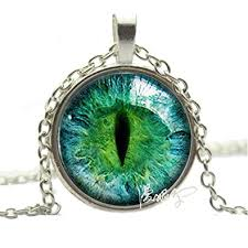 eye pendant necklace images Silver photo prismatic green cat eye pendant necklace jpg