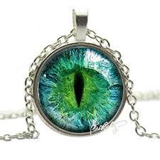 eye pendant necklace images Silver photo prismatic green cat eye pendant necklace jpg