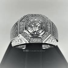 mens rings for sale horus 2ct cut pavé octagon iobi cultured diamond men s ring