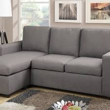 gray linen convertible chaise sofa u0026 ottoman set furniture bureau