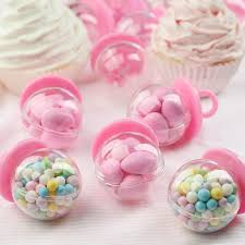 baby shower pacifiers fillable pink pacifier baby shower favors it s a girl theme