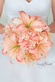 davids bridal bellini peach and blush pink wedding bouquet with