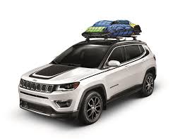 gray jeep compass mopar introduces 2017 jeep compass accessories hood graphic is