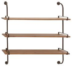 wood wall shelf industrial display and wall shelves by zeckos