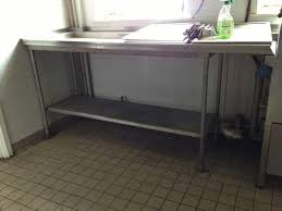 secondhand catering equipment stainless steel tables 1 01m to