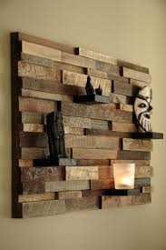 fresh and creative wall decoration ideas and diys wooden statues
