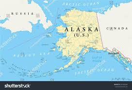 Map States And Capitals by Us State Alaska Political Map Capital Stock Vector 267095948