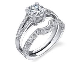 wedding band with engagement ring white gold diamond engagement ring and wedding band er7016