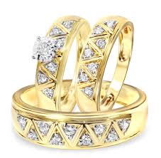 wedding gold set carat diamond trio wedding ring set yellow gold sets designs