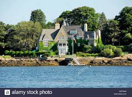 large mansions large mansions on the shore of gloucester harbor gloucester stock
