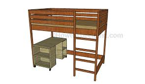 loft bed with desk plans howtospecialist how to build step by