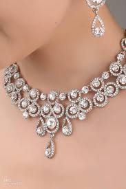 wedding jewelry designer necklace earrings bridal jewelry set j834 2