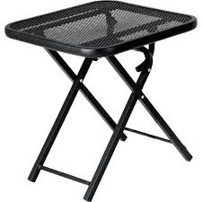 Patio Side Tables Metal Side Table Patio Side Table Folding Outdoor Furniture Throughout