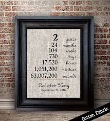 second year anniversary gift ideas 2 year anniversary gift on cotton newly by lemonmilkdesigns crafts