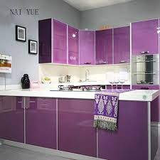 popular kitchen paint buy cheap kitchen paint lots from china naiyue 3m thick high gloss paint waterproof vinyl adhesive wallpaper roll kitchen furniture pvc stickers
