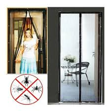 Magic Mesh Curtain Magnetic Door Curtain 2x Magic Fly Screen Magna Mosquito Bug Mesh