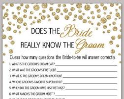 bridal shower question groom questions etsy