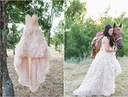 wedding dress cowboy boots western chic wedding pink ruffles and cowboy boots the