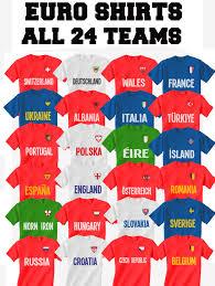 kids t shirt retro country name euro 2016 football all 24 choose