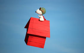 snoopy on his dog house rc snoopy s flying doghouse the peanuts big jolt 2015