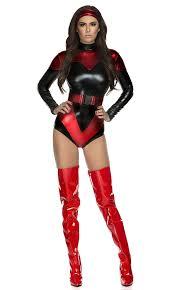 Woman Superhero Halloween Costumes Amazon Forplay Women U0027s Venomous Villain Superhero Bodysuit