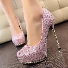 silver gold black pink rhinestone diamond sparkly wedding shoes