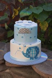 blue and white elephant baby shower cake baby shower cakes