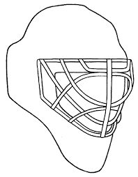 design your own goalie mask chicago blackhawks coloring pages