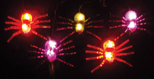orange icicle lights halloween amazon com halloween spider light set multi colored home u0026 kitchen