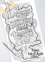 coloring poster set wise words paper ink and knife
