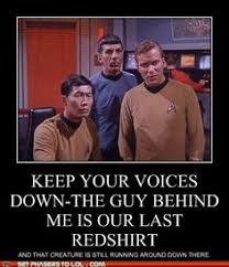 Red Shirt Star Trek Meme - please explain the nature of your response in a logical manner in