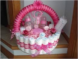 baby shower basket baby shower basket ideas parcel with pink flower ribbon