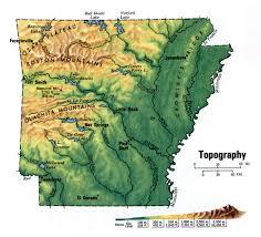 State Of Arkansas Map Landscape Of Arkansas