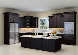 dark espresso kitchen cabinets low budget kitchen countertop ideas dark with cabinets island