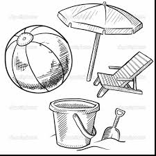 extraordinary beach umbrella coloring page with beach ball