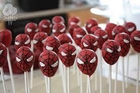 spiderman cakepops pops kids boys party snacks treats idea