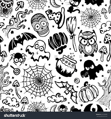 halloween seamless background vector vintage halloween seamless your business stock vector